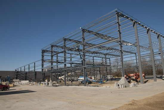 Framing for the new addition to NPK's Northfield facility - October 2016