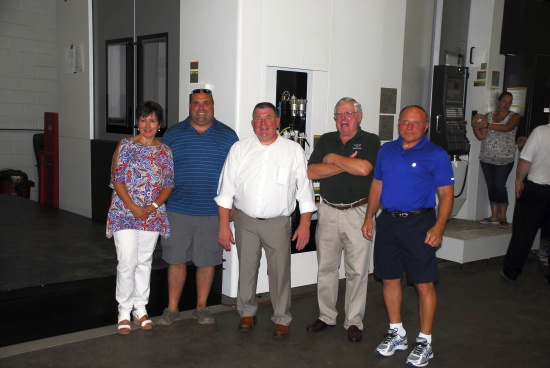 NPK President, Dan Tyrrell, with members of Walton Hills' city council