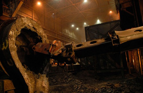 Steel Mill Slag Removal