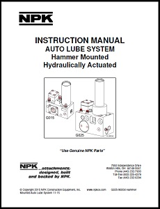 Hammer Mounted Autolube Instruction Manual