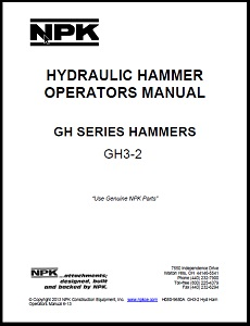 GH3-2 Hydraulic Hammer Operators Manual