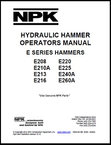 Large E Series Hydraulic Hammer Operators Manual