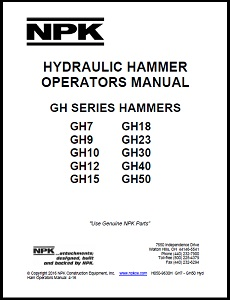 Large GH Series Hydraulic Hammer Operators Manual