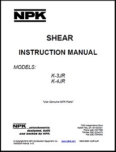 Demolition Shear Instruction Manual