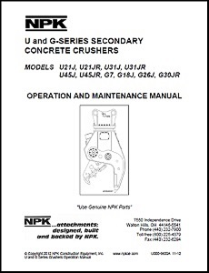 Concrete Pulverizer Operation & Maintenance Manual