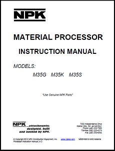 M35 Material Processor Instruction Manual