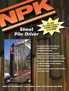 Sheet Pile Driver Sales Brochure