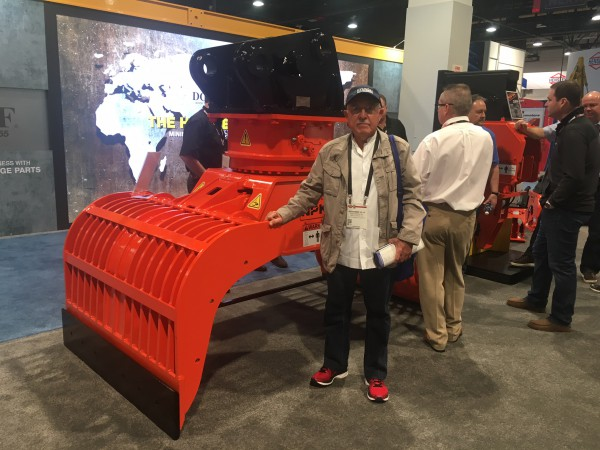 NPK booth at ConExpo 2017 - ALL NEW DG-40 demolition grab, the largest model available