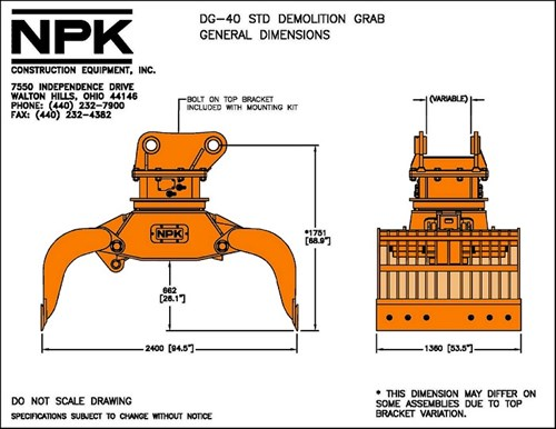 DG-40 | Demolition & Sorting Grab, Selector Grab | NPKCE