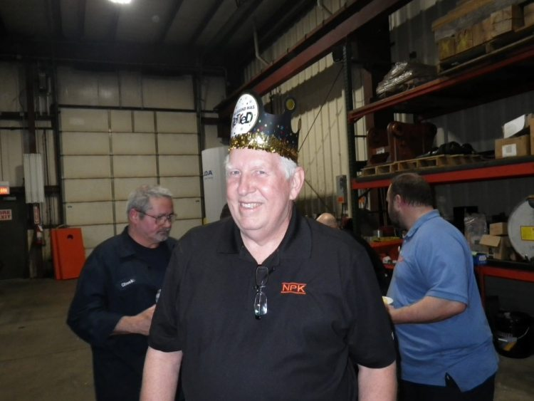 "The Legend Himself, Dean Lewis in his party hat ""The Legend has Retired"""