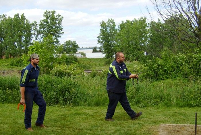 June 2018 NPK Service Conference - playing horseshoes
