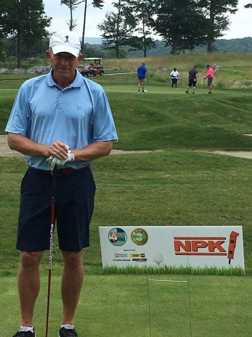 Jay Noel golfing at an NPK sponsored event 2018