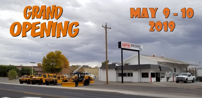 NPK Mining Equipment Grand Opening - May 9 - 10, 2019